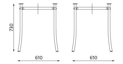 Wymiary stolika Molino