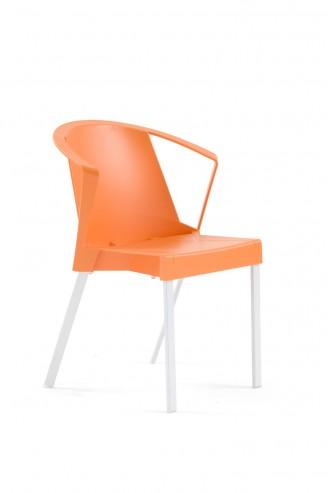 Krzesło SOLEIL arm pomarańczowe