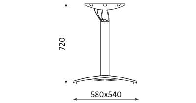 Wymiary stolika Sunny Table