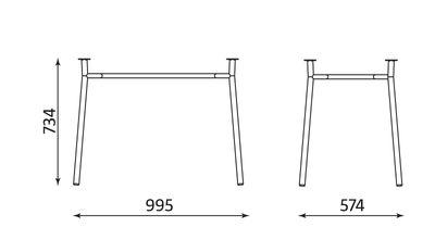 Wymiary stolika Tiramisu Duo