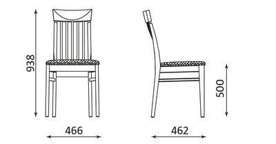 Wymiary krzesła Vienna