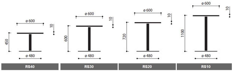 Wymiary stolików okolicznośćiowych SR