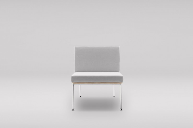 Fotel FIN podstawa metalowa