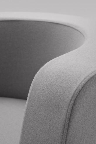 Fotel NEON L drewniane detal