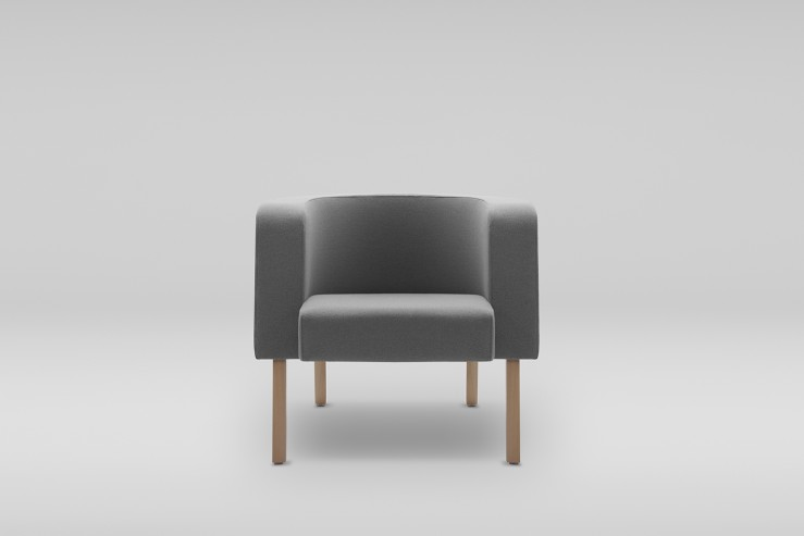 Fotel NEON L drewniane
