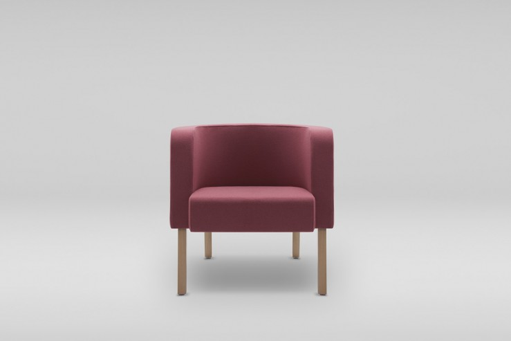 Fotel NEON M drewniane