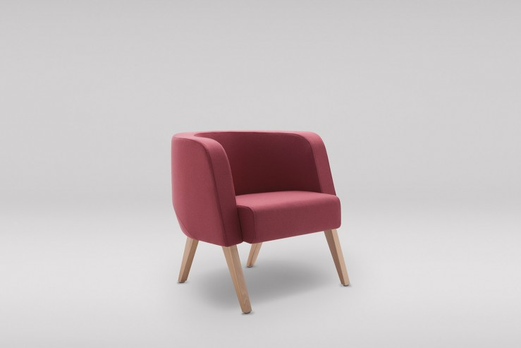 Fotel NEON M drewniane skos