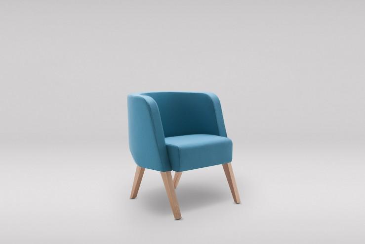 Fotel NEON S drewniane skos